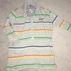 Superdry Rainbow Stripe Polo Shirt